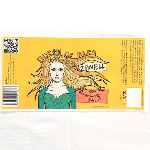 Pivná etiketa ŽiWELL – malá