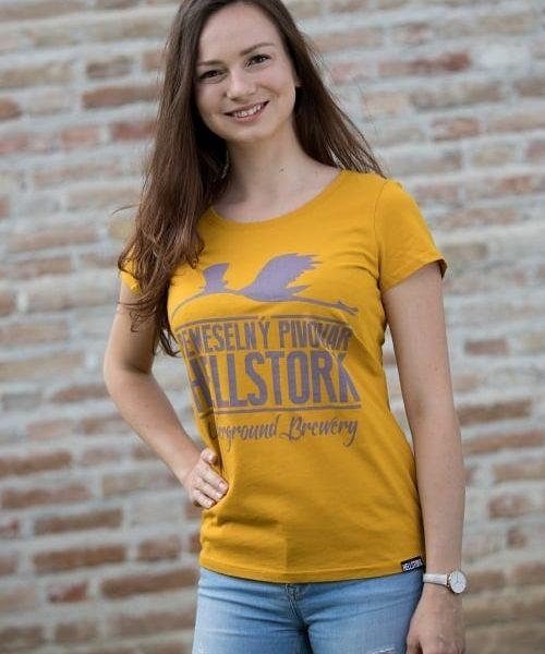 Tričko dámske žlté